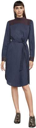 BCBGMAXAZRIA Megaen Stripe Backward Dress