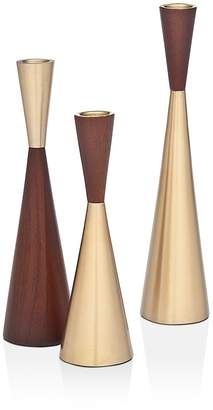 Godinger Zephyr Candlesticks, Set of 3