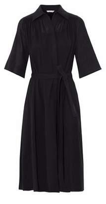Helmut Lang Tie-Front Linen Midi Dress