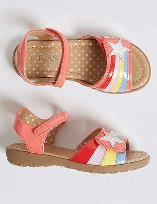 Marks and Spencer Kidsâ Rainbow Sandals (5 Small - 12 Small)