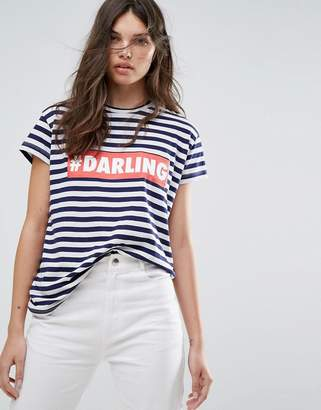 Mango Stripe Darling T-Shirt $21 thestylecure.com