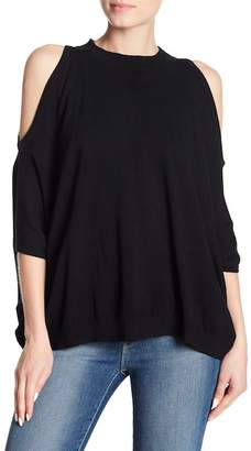 Central Park West Jamison Label Cold Shoulder Shirt