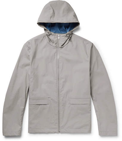 Theory Coated Cotton-Blend Shell Hooded Jacket