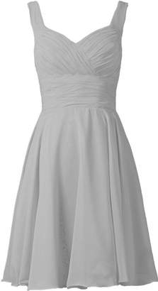 CaliaDress Women Strap A Line Short Bridesmaid Dress Prom Party Gowns C283LF US
