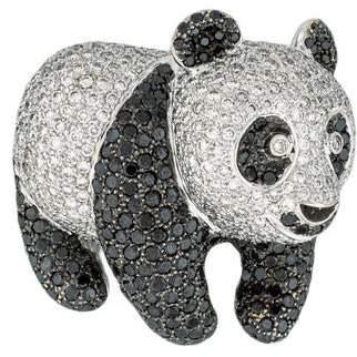 18K Diamond Panda Brooch