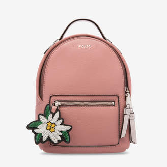 Bally The Backpack Extra Small Pink, Women's extra small grained bovine leather backpack in rosehaze