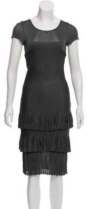 Chanel Ruffled Knit Dress