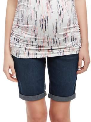 Motherhood Maternity Secret Fit Belly Cuffed Maternity Bermuda Shorts