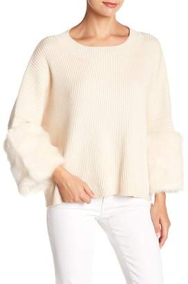 Fate Faux Fur Cuff Sweater