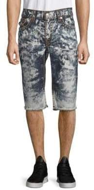 True Religion Straight-Leg Cut-Off Shorts