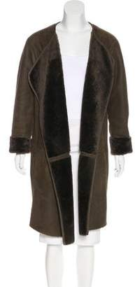 Vince Suede Shearling Coat