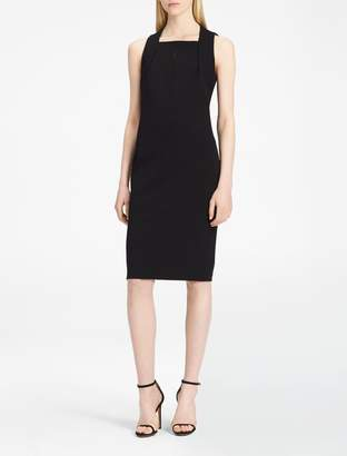Calvin Klein keyhole cut-out sheath dress