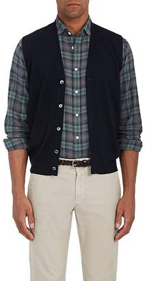 Fioroni Men's Virgin Wool-Cashmere Sweater Vest