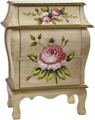 Nearly Natural nearly natural 3-Drawer Nightstand