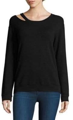 Monrow Slash Cutout Sweatshirt