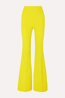 Safiyaa Halluana Stretch-crepe Flared Pants - Lime green