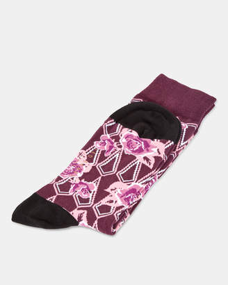Ted Baker STIAL Floral print cotton socks