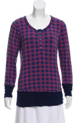 Josie Natori Printed Long Sleeve Top