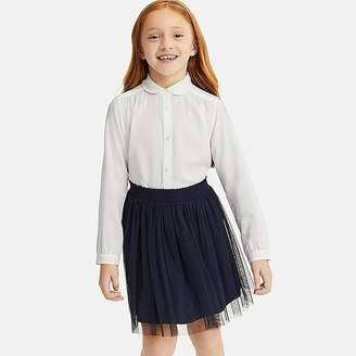 Uniqlo Girl's Rayon Long-sleeve Blouse