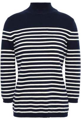La Ligne Cotton-blend Striped Stretch-cotton Turtleneck Top