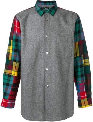 Comme des Garcons Pre-Owned patchwork plaid shirt