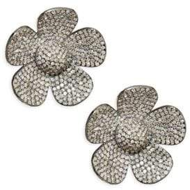 Nina Gilin Flower Diamond Stud Earrings