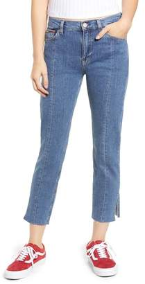 Tommy Jeans Izzy High Rise Center Seam Slim Jeans (Split Mid Blue Rigid)
