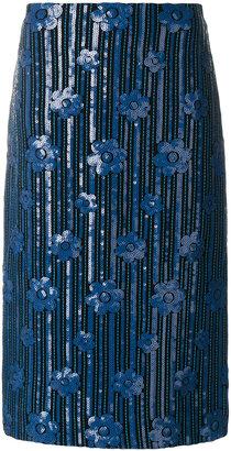 sequinned pencil skirt