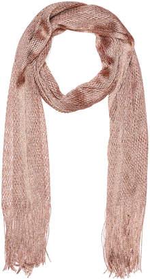 Portmans Australia Rose Gold Lurex Weave Scarf