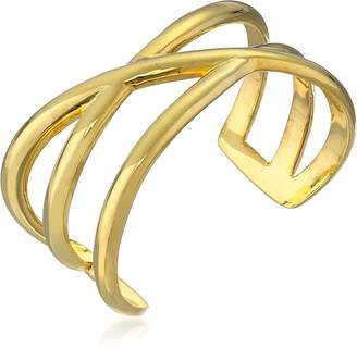 "Paige Novick Amber Collection"" Gold-Tone Cuff Bracelet"