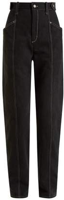 Isabel Marant Genie High Rise Straight Leg Jeans - Womens - Black