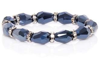 Quiz Navy Stretch Bracelet