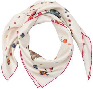 Salvatore Ferragamo Dogs Printed Silk Twill Scarf