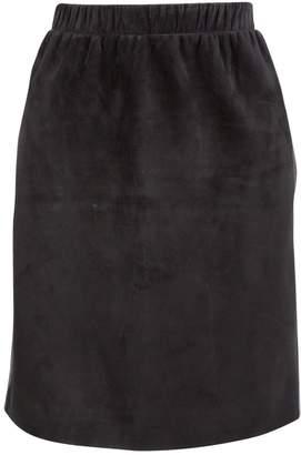 Louis Vuitton Black Suede Skirts