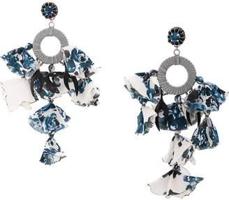 Ranjana Khan printed appliquéd earrings
