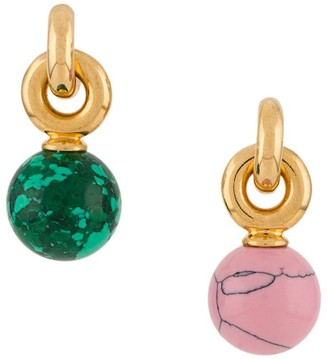 Mulberry coloured earrings