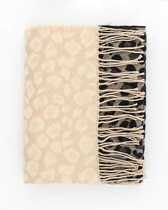Le Château Leopard Print Woven Blanket Scarf