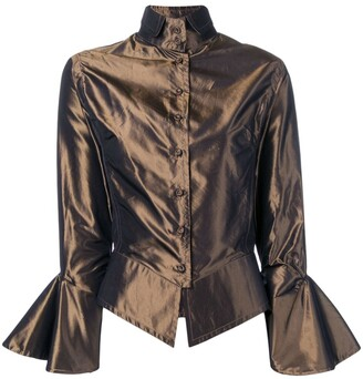 Gianfranco Ferre Pre-Owned 2000's draped blouse