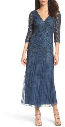 Pisarro Nights Beaded Mesh Dress