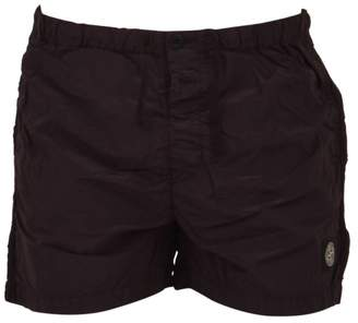 Stone Island Burgundy Swim Shorts