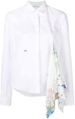 Off-White scarf detail shirt