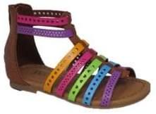 Mia Kid's Kaylee Multicoloured T-Strap Sandals