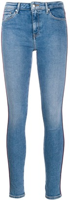 Tommy Hilfiger piped detail skinny jeans