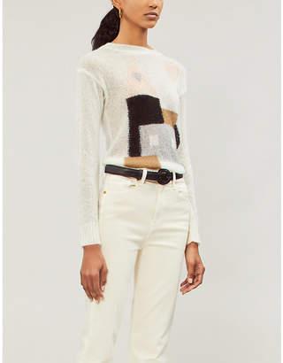 Isa Belle LES COYOTES DE PARIS Isabelle intarsia-knit jumper