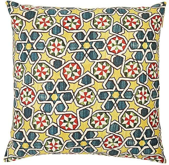 St. Frank Lakai Suzani Linen-Cotton Pillow