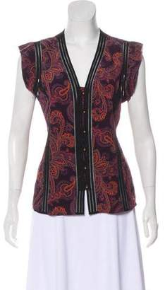 Veronica Beard Silk Paisley Blouse