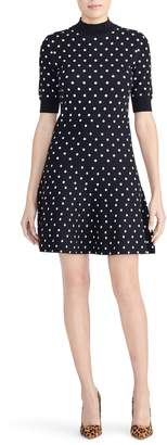 Rachel Roy Collection Polka Dot Fit & Flare Dress