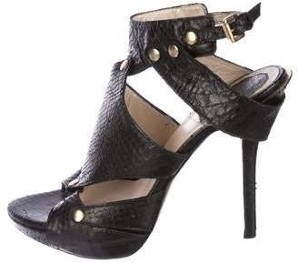 Christian Dior Snakeskin Cutout Sandals