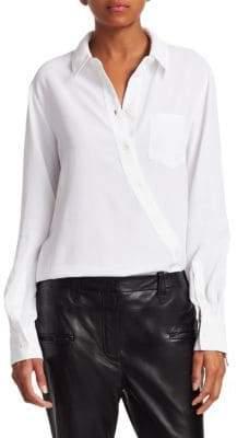 Altuzarra Garcia Asymmetric Button-Front Blouse