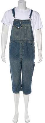 Co RRL & Distressed Denim Overalls